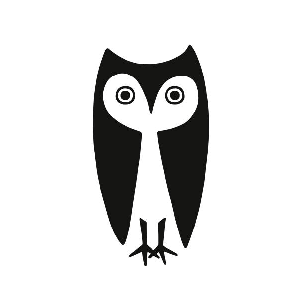 owl - sowa stock illustrations