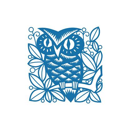 Owl(China paper-cut patterns)