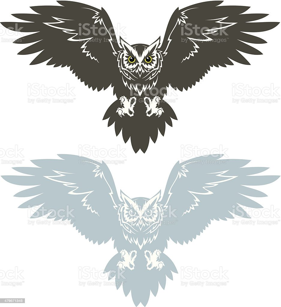 Owl royalty-free owl stock vector art & more images of aggression