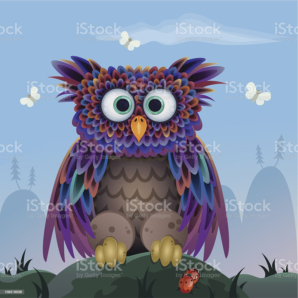 owl vector royalty-free owl vector stock vector art & more images of animal