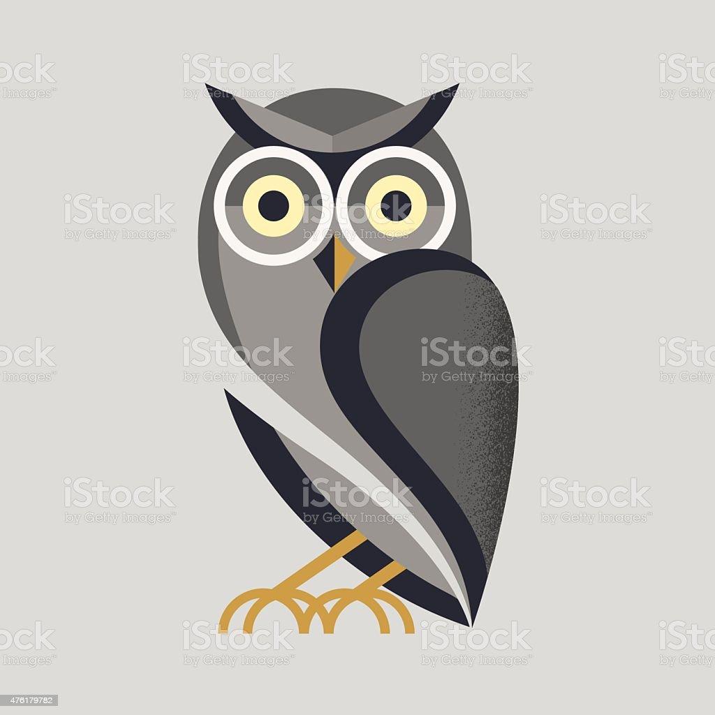 Búho vector - ilustración de arte vectorial