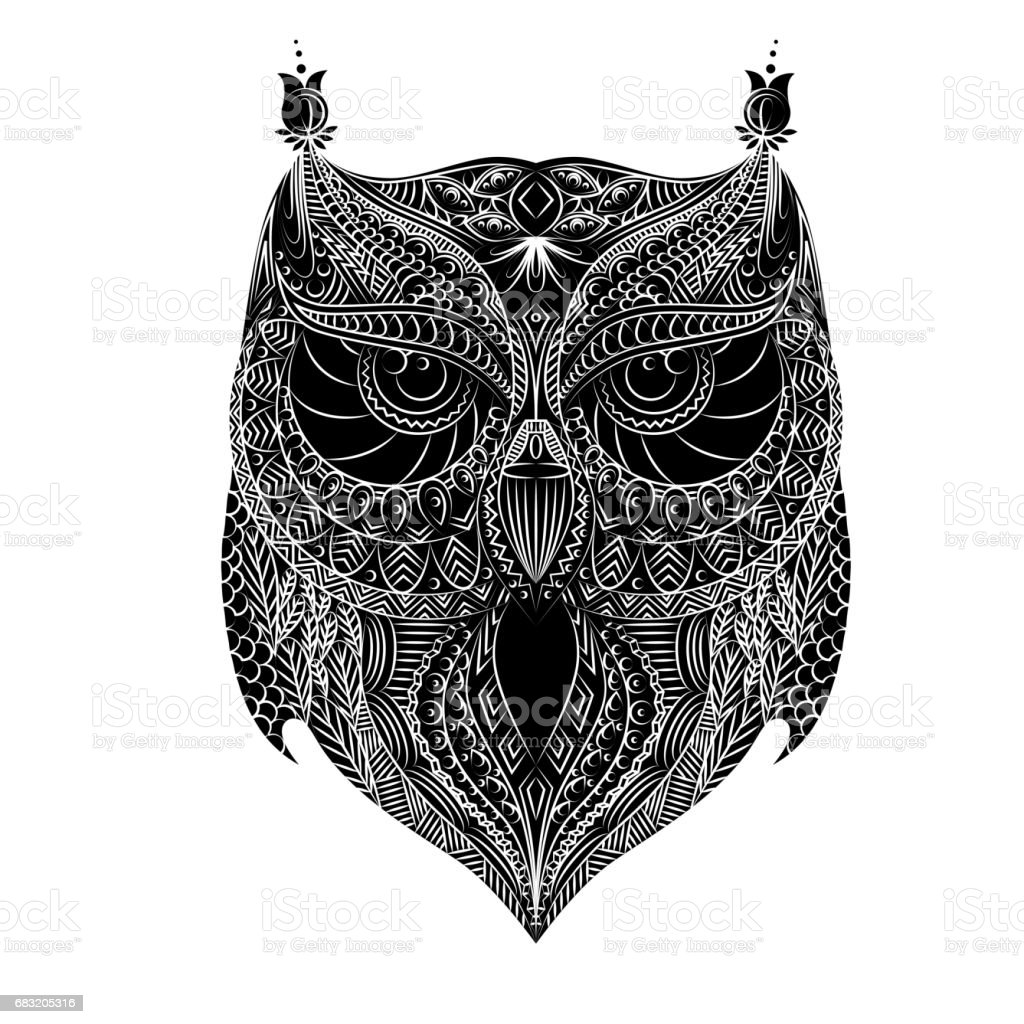 Owl white brush royalty-free owl white brush stock vector art & more images of abstract