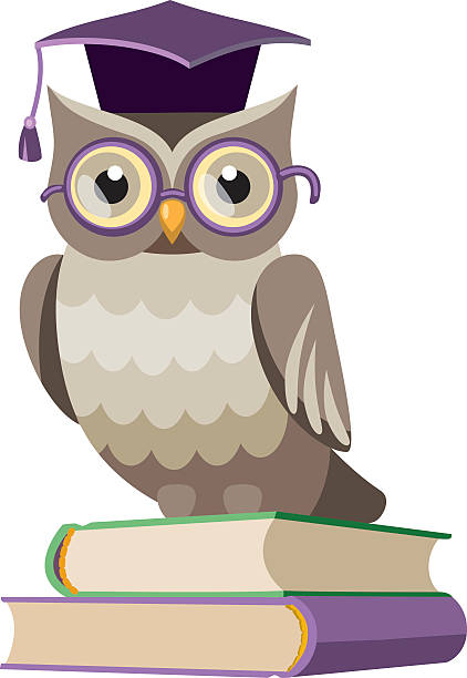 Royalty Free Wise Owl Clip Art, Vector Images ...