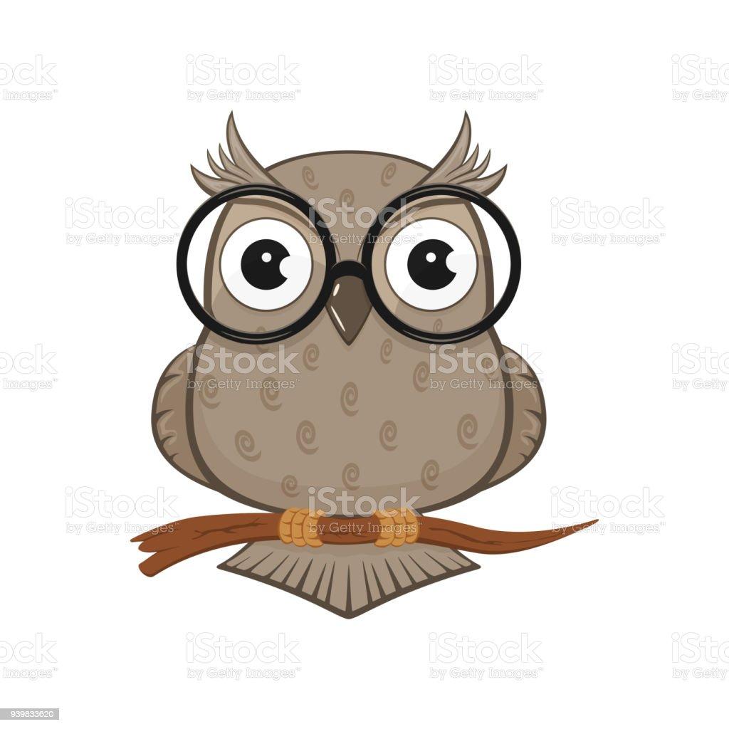 Vetores De Coruja Com Oculos E Mais Imagens De Animal Istock