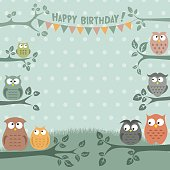Owls Birthday Party Invitation