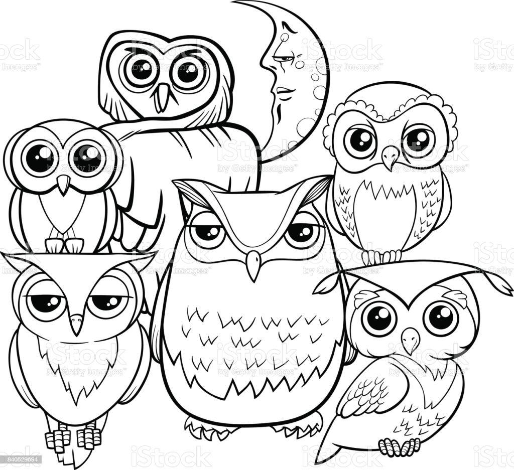 Ilustración De Personajes De Dibujos Animados De Grupo De