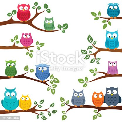 istock Owls in love 827040466