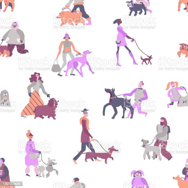 Owners dogs seamless pattern vector id1201224057?b=1&k=6&m=1201224057&s=612x612&h=4reouoqdgpvr8 uudnomr pziidhw5hzpcmkfqzcxqs=