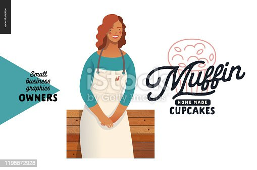istock Owners - small business graphics - muffins 1198872928