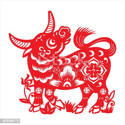 Ox Chinese Zodiac Sign Stock Vector Art More Images Of 2018