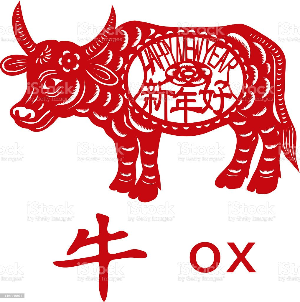Ox year. royalty-free stock vector art