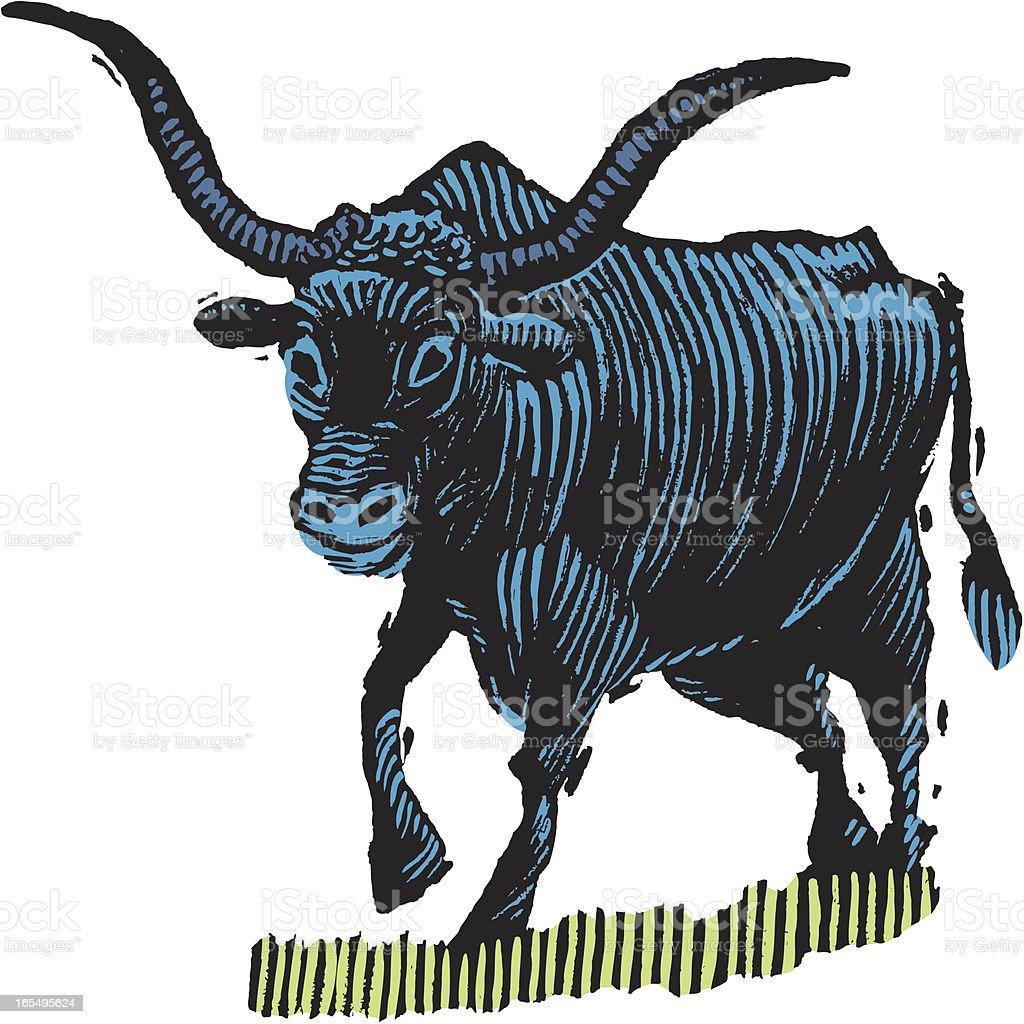 Oxen - Farm Animal royalty-free stock vector art