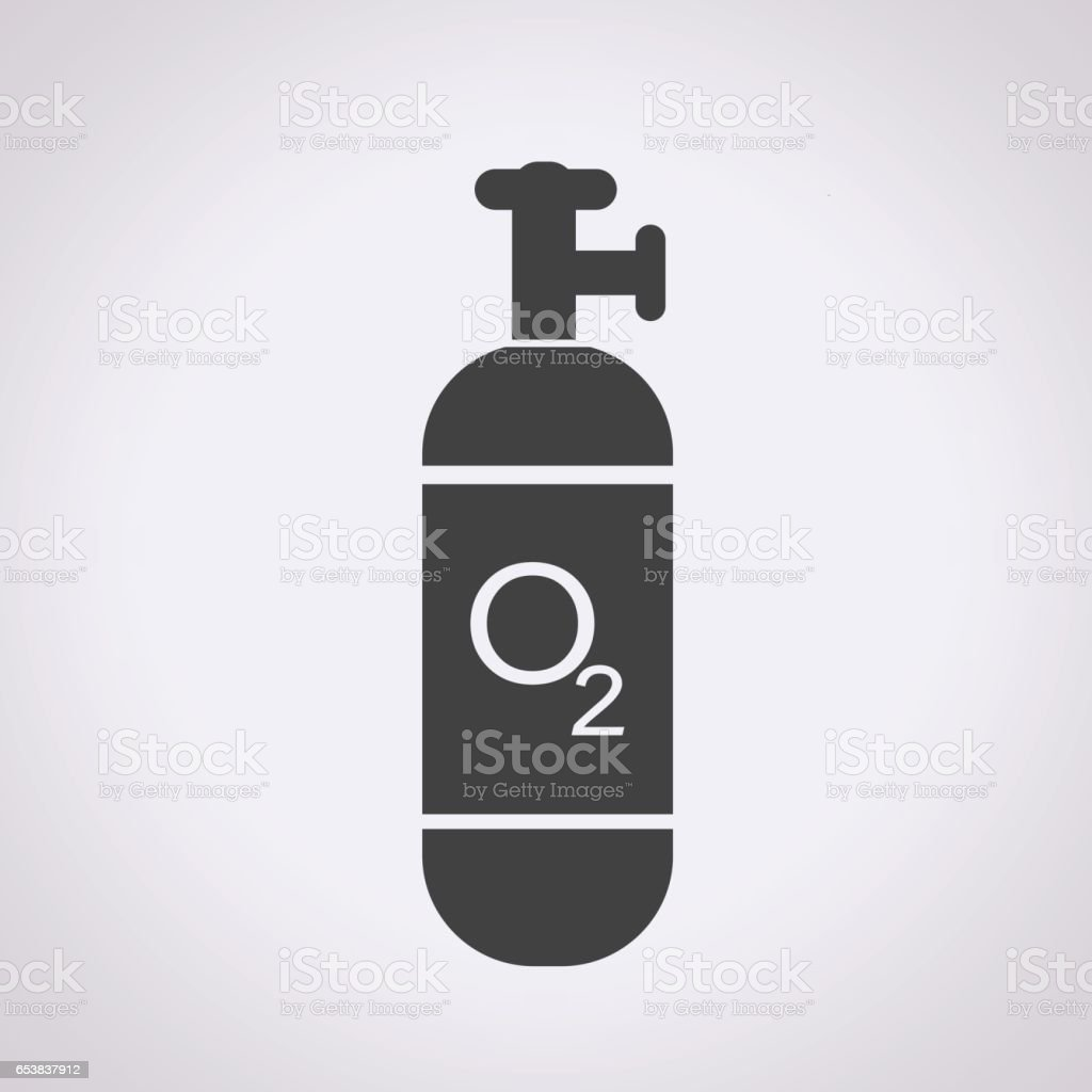 Oxygen Cylinder icon vector art illustration