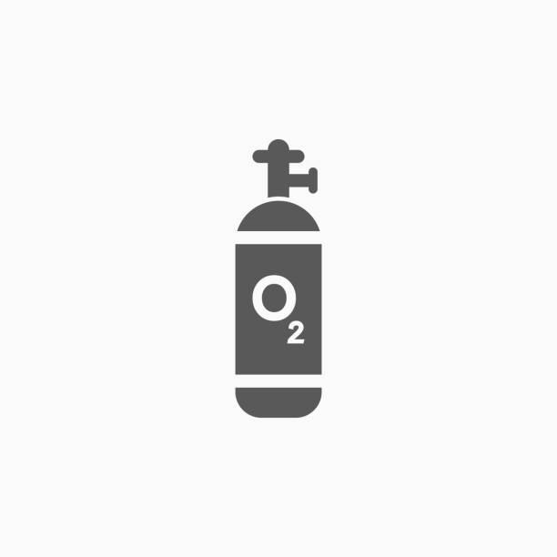 oxygen cylinder icon oxygen cylinder icon oxygen stock illustrations