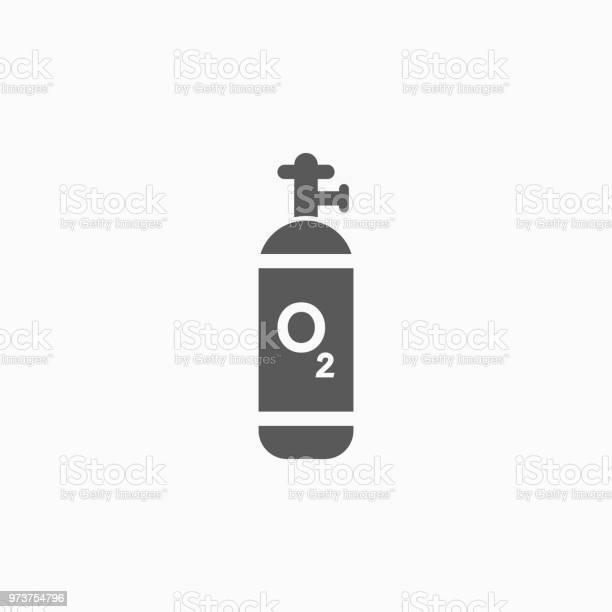 Zuurstof Cilinder Pictogram Stockvectorkunst en meer beelden van Ademhalingsoefening