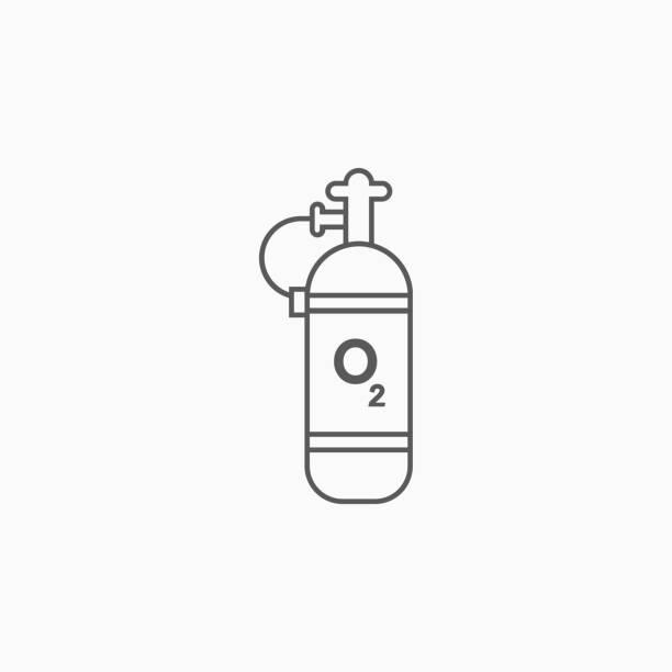 sauerstoff-zylinder-symbol - sauerstoff stock-grafiken, -clipart, -cartoons und -symbole