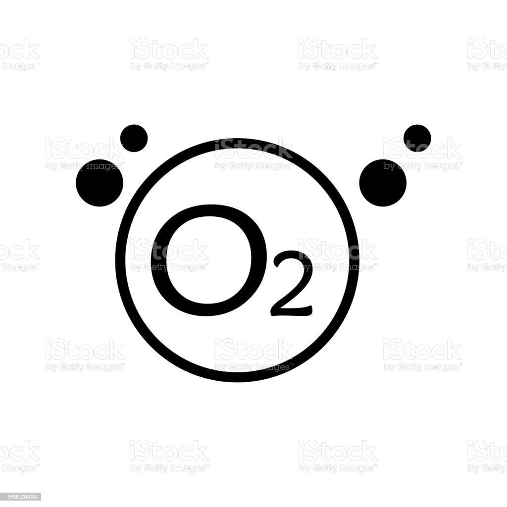 Oxygen Icon Vector Icon Simple Element Illustration Oxygen Symbol
