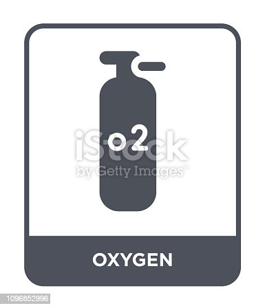 oxygen icon vector on white background, oxygen trendy filled icons from Industry collection