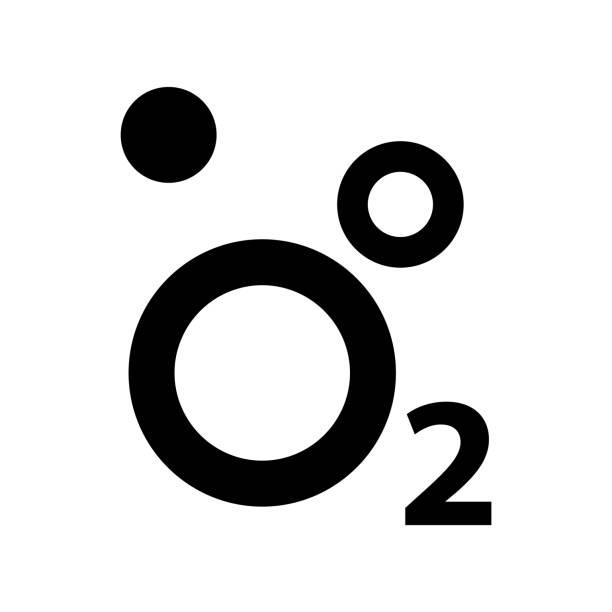 Oxygen O2 Icon, vector illustration. Vector illustration oxygen stock illustrations
