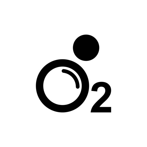 sauerstoff o2 symbol, vektor-illustration. - sauerstoff stock-grafiken, -clipart, -cartoons und -symbole