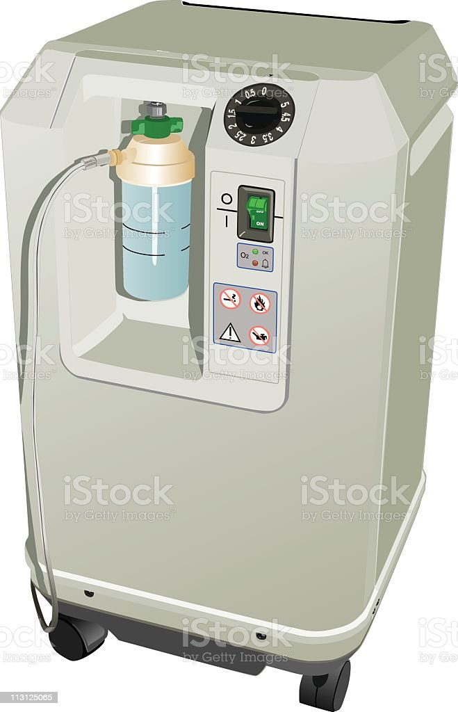Oxygen Purification Machine (Vector) royalty-free oxygen purification machine stock vector art & more images of breathing device