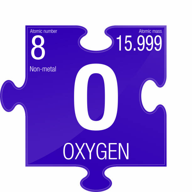 Oxygen symbol element number 8 of the periodic table of the elements oxygen symbol element number 8 of the periodic table of the elements chemistry stock vector art more images of atom 913120916 istock urtaz Image collections