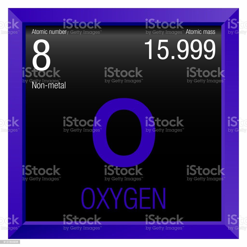 Oxygen symbol element number 8 of the periodic table of the elements oxygen symbol element number 8 of the periodic table of the elements chemistry royalty urtaz Images