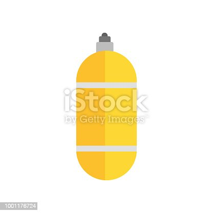 Oxygen Tank Icon Vector Sign And Symbol Isolated On White Background