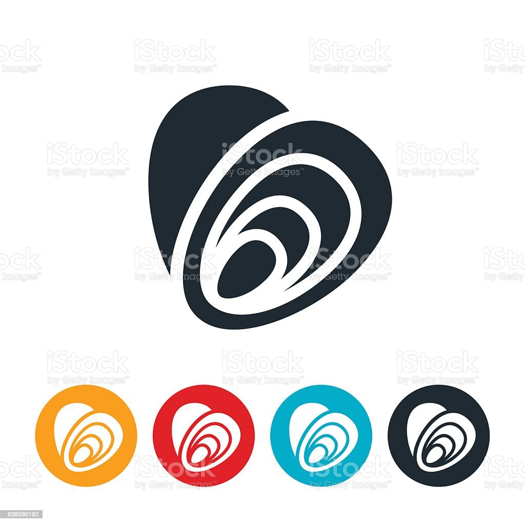 Oysters Icon vector art illustration