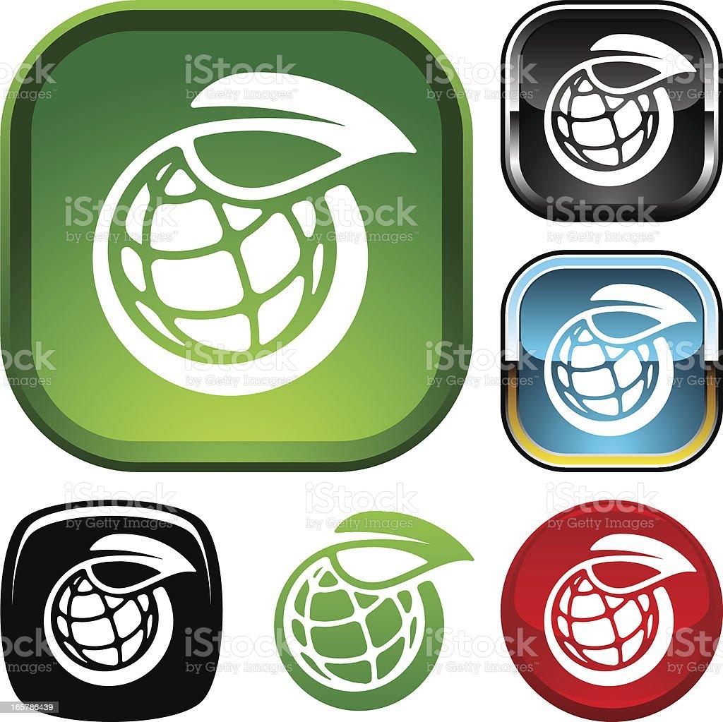Ozone layer icon vector art illustration