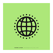 Ozone Layer Rounded Line Icon