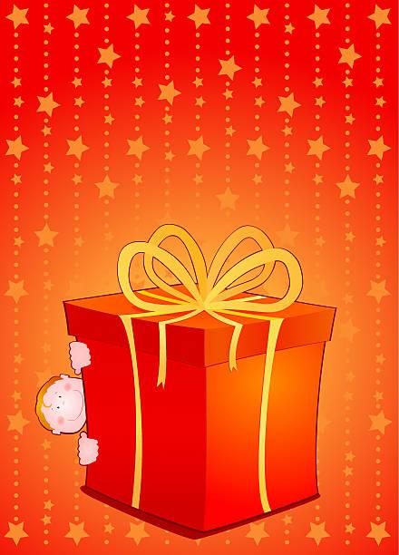 Pacco regalo  pacco regalo stock illustrations