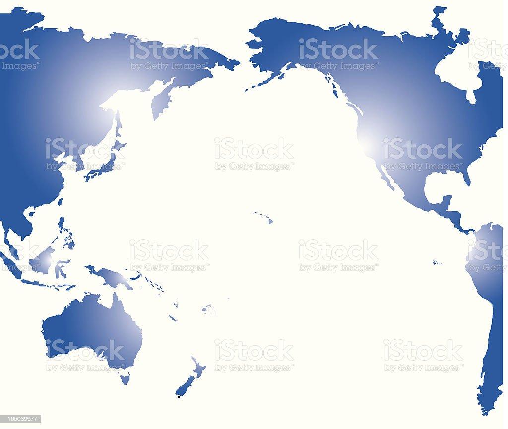 Pacific rim royalty-free stock vector art