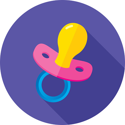 Pacifier Icon Flat