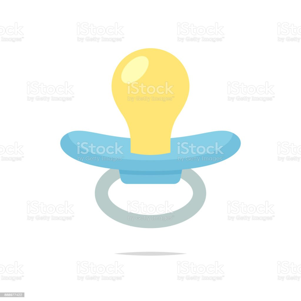 Pacifier isolated vector vector art illustration