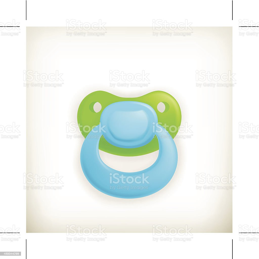 Pacifier vector art illustration