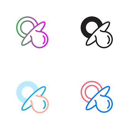Pacifier Vector Symbol Icon - Simple Icons, Premium Quality Design Element