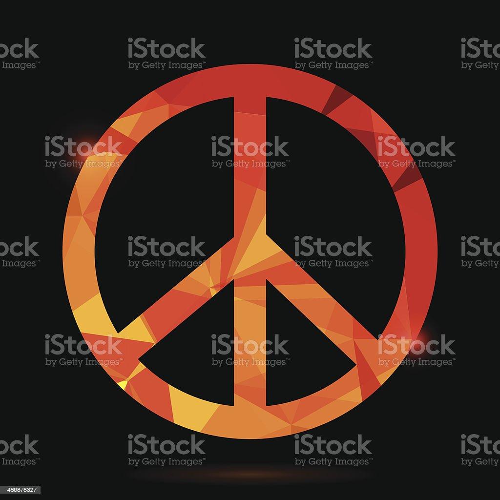 pacifist symbol royalty-free stock vector art