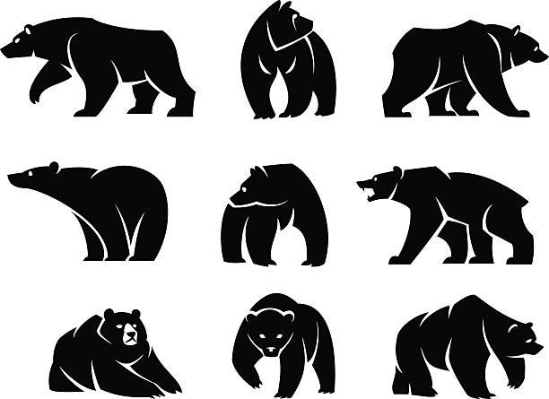 illustrations, cliparts, dessins animés et icônes de plaque de porte - ours