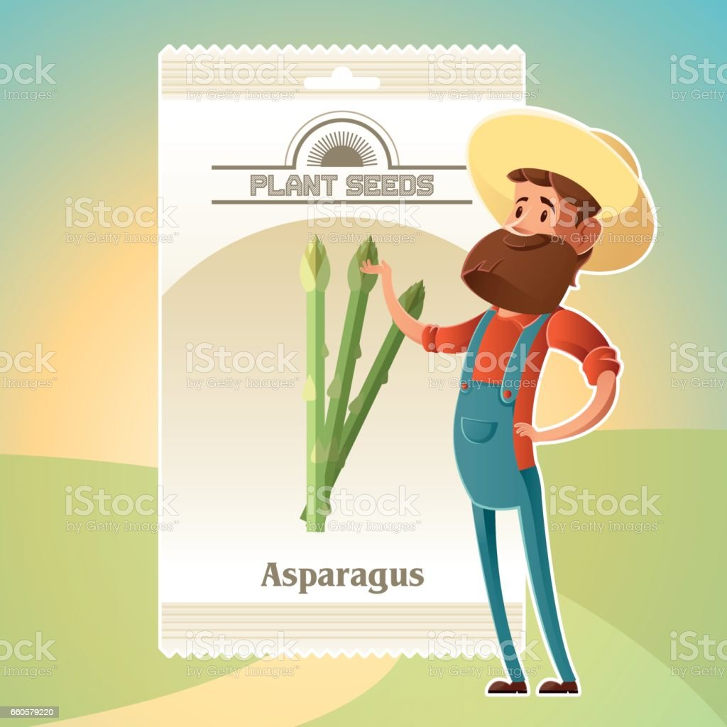 Pack of asparagus seeds icon royalty-free pack of asparagus seeds icon stock vector art & more images of agriculture