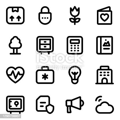 istock Pack of Business and Medical Solid Icons 1293756937