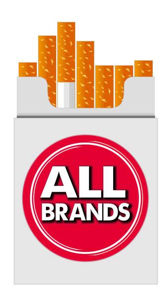 Pack of Cigarettes all Brands vector art illustration