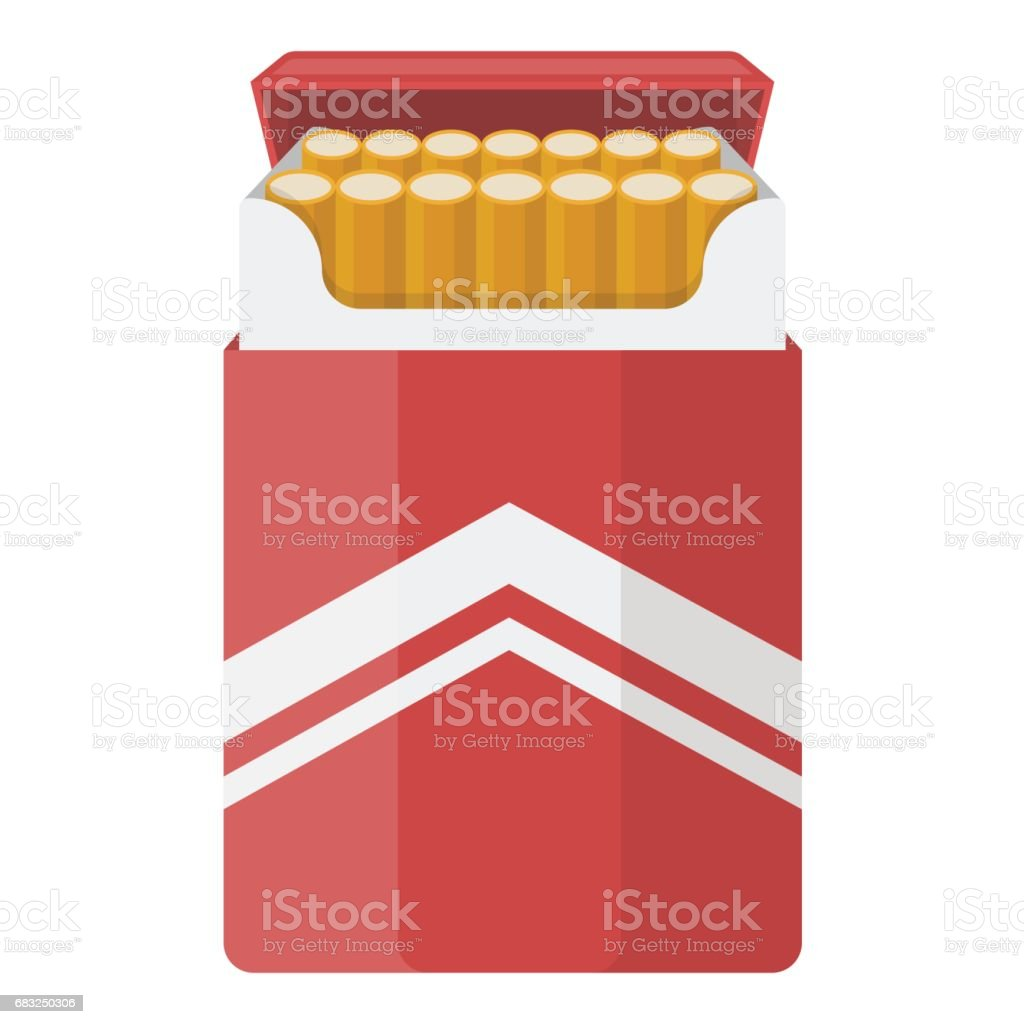Pack of cigarettes icon in cartoon style isolated on white background. Drugs symbol stock vector illustration. royalty-free pack of cigarettes icon in cartoon style isolated on white background drugs symbol stock vector illustration 0명에 대한 스톡 벡터 아트 및 기타 이미지