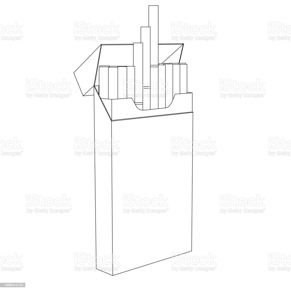 Dessin Paquet De Cigarette paquet de cigarettes esquisse de dessin – cliparts vectoriels et