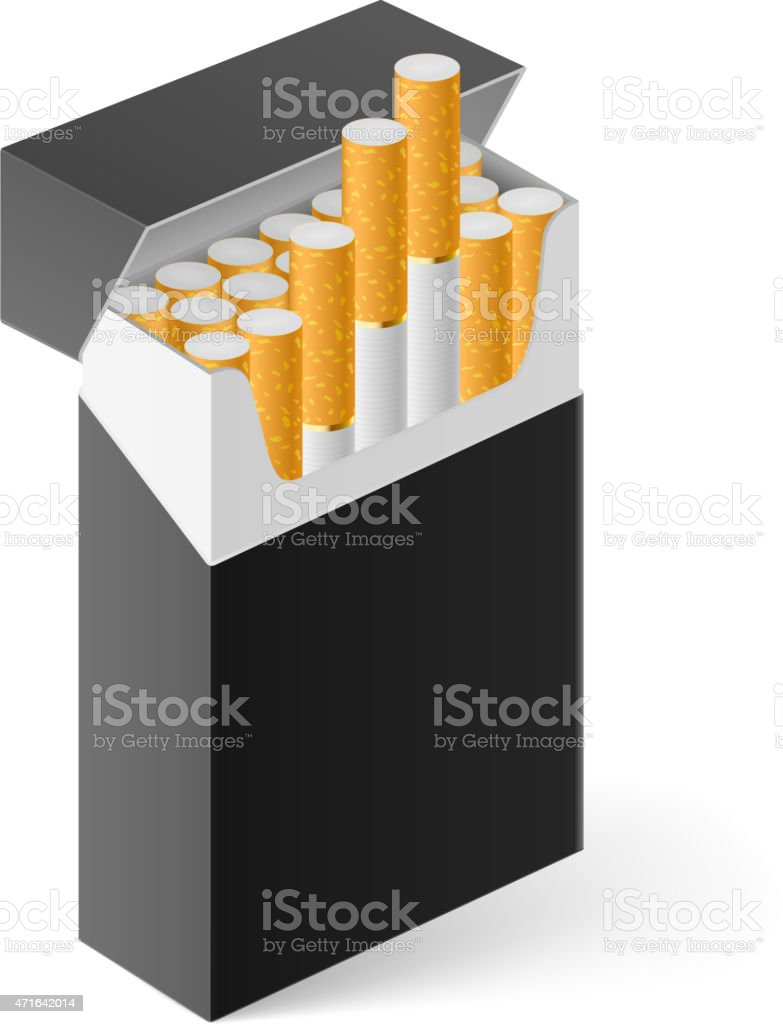 Pack Of Cigarettes Stock Vector Art & More Images of 2015