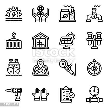 Pack of industries in solid icons is presenting the commercial niche effectively. Download these editable icons and use in related projects.