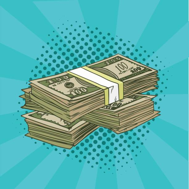 A pack of dollars pop art. Denominations of 100 in the comic style. Vector illustration. EPS 10. A pack of dollars pop art. Denominations of 100 in the comic style. Vector illustration. american one hundred dollar bill stock illustrations