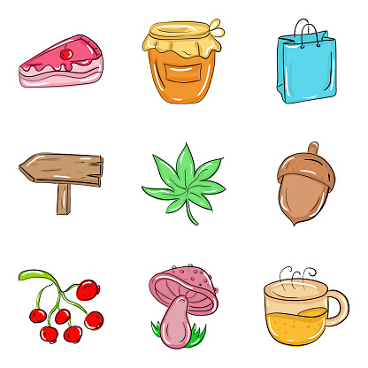 Pack Of Food Doodle Icons