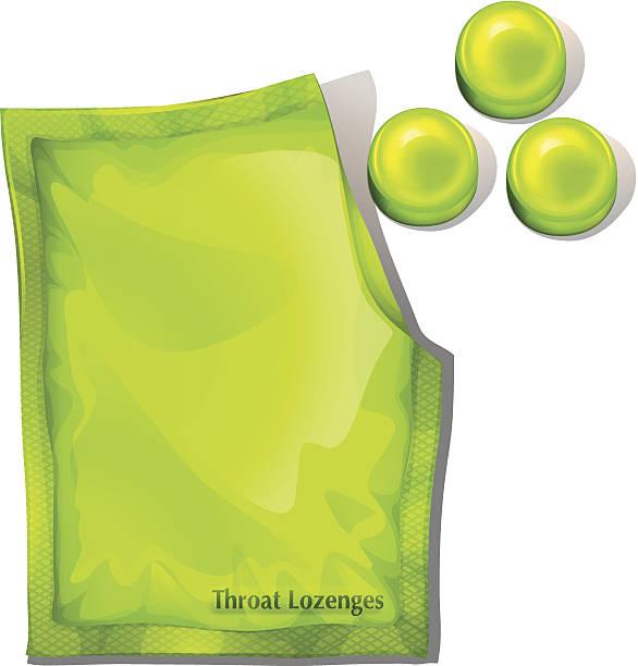 illustrations, cliparts, dessins animés et icônes de pack de vert cou lozenges - pastille