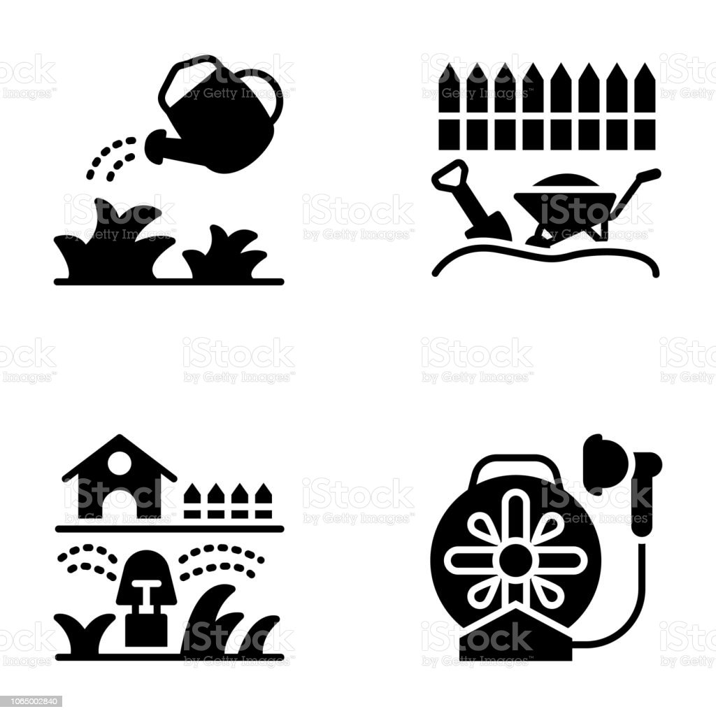 Pack Of Irrigation Icons Stock Illustration - Download Image Now